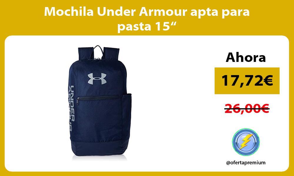 "Mochila Under Armour apta para pasta 15"""