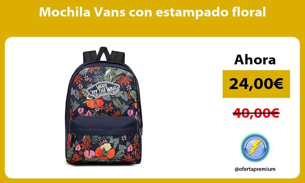 Mochila Vans con estampado floral