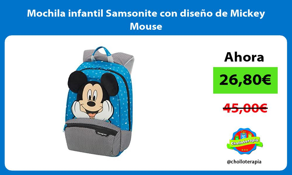 Mochila infantil Samsonite con diseño de Mickey Mouse