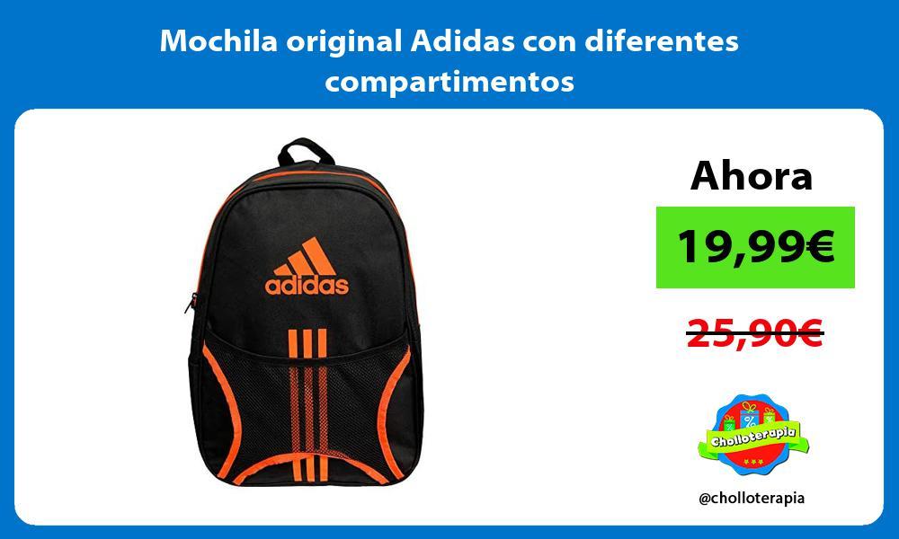 Mochila original Adidas con diferentes compartimentos