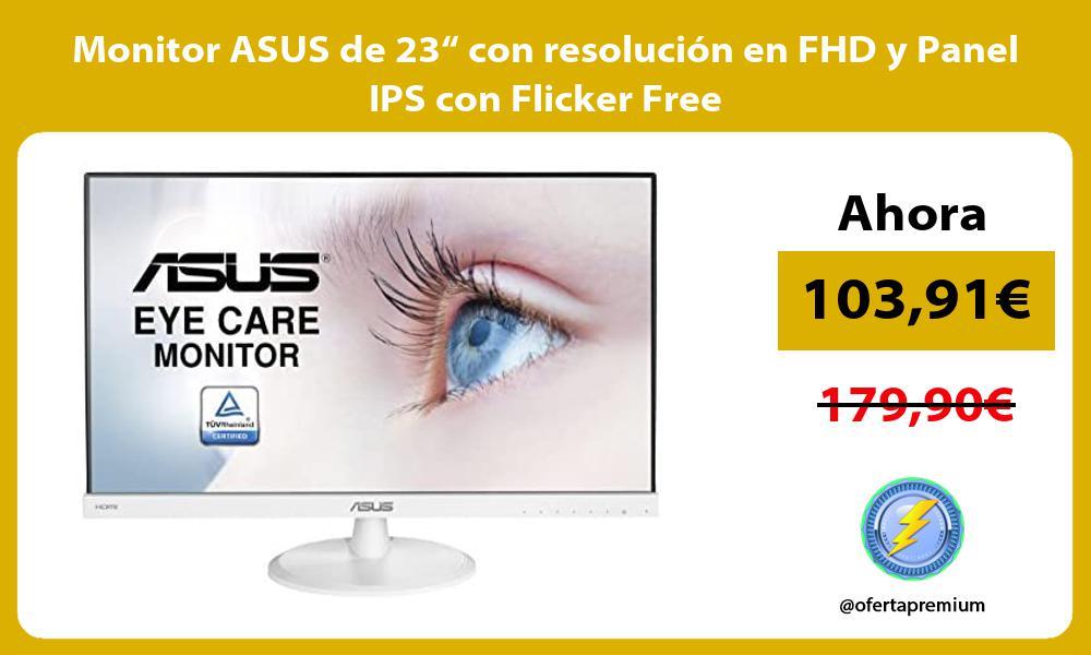 """Monitor ASUS de 23"""" con resolución en FHD y Panel IPS con Flicker Free"""