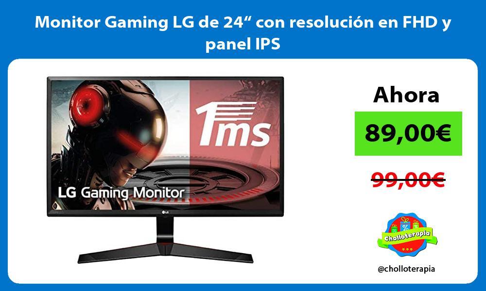 """Monitor Gaming LG de 24"""" con resolución en FHD y panel IPS"""