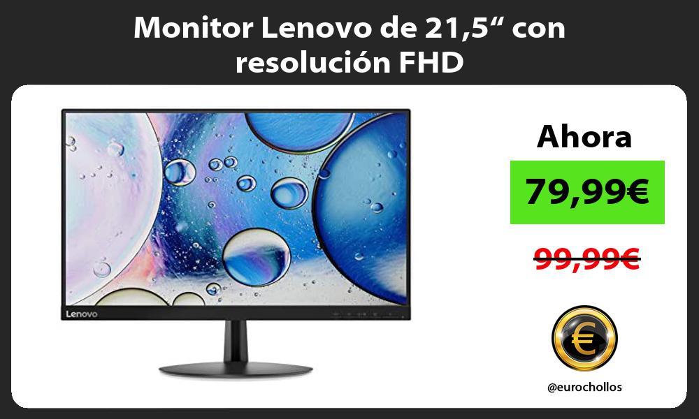 """Monitor Lenovo de 215"""" con resolución FHD"""