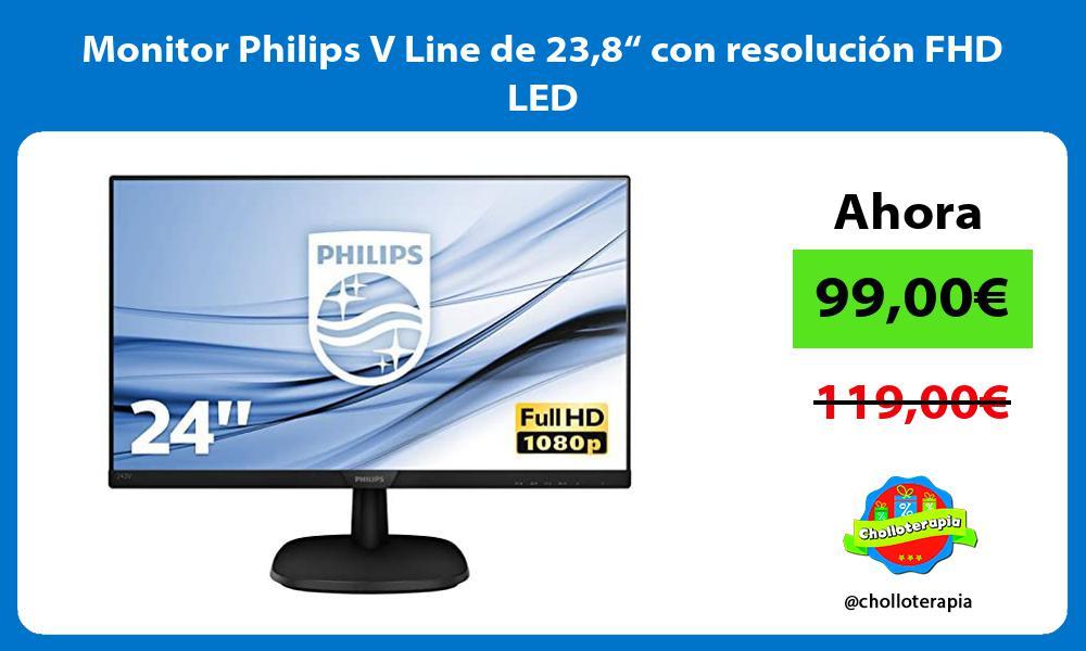 """Monitor Philips V Line de 238"""" con resolución FHD LED"""