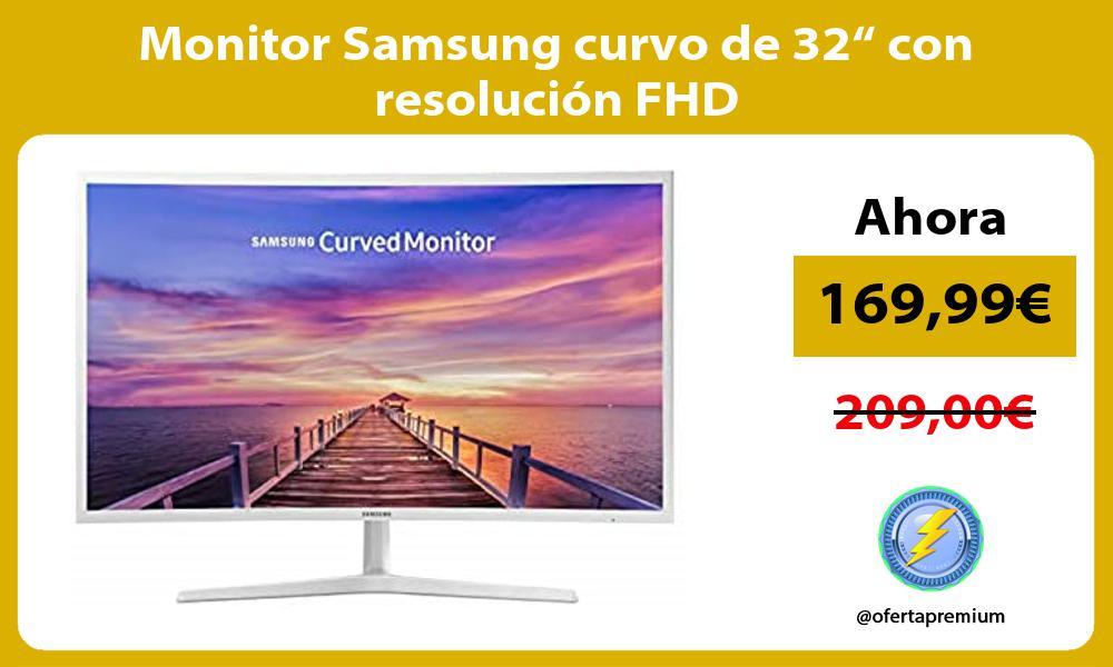 "Monitor Samsung curvo de 32"" con resolución FHD"