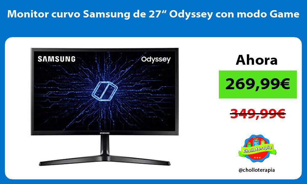 "Monitor curvo Samsung de 27"" Odyssey con modo Game"
