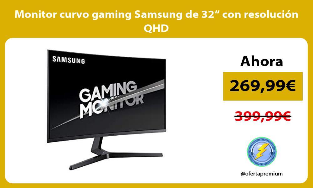 """Monitor curvo gaming Samsung de 32"""" con resolución QHD"""