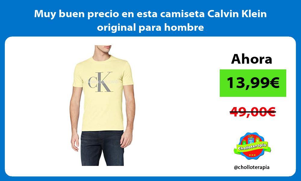 Muy buen precio en esta camiseta Calvin Klein original para hombre