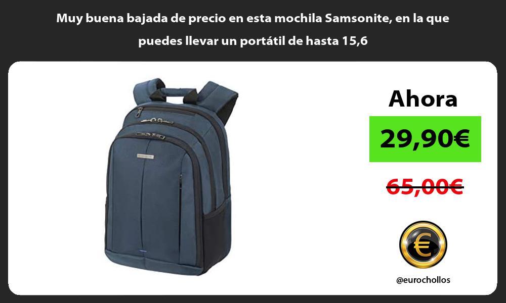 Muy buena bajada de precio en esta mochila Samsonite en la que puedes llevar un portátil de hasta 156