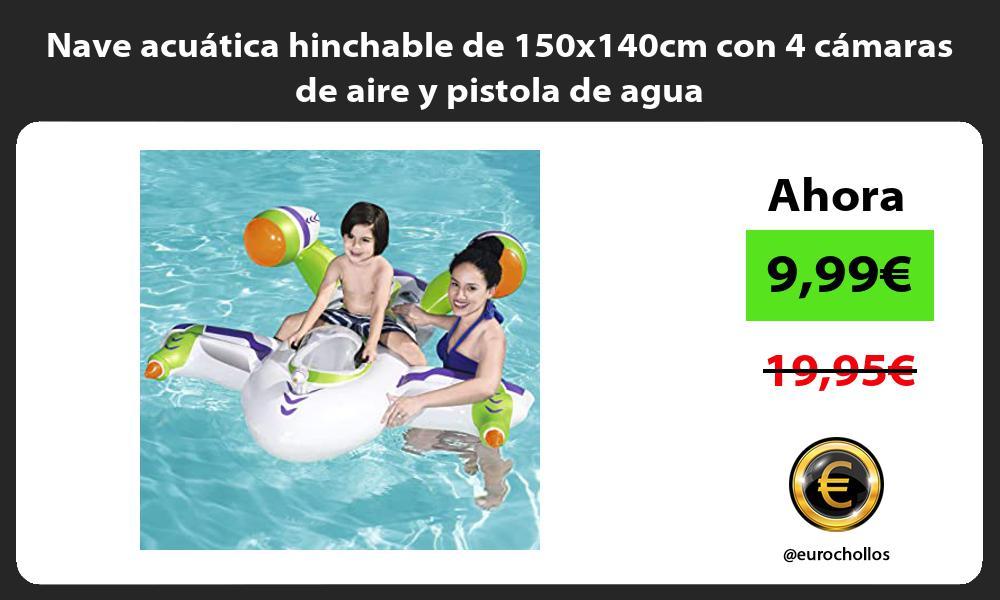 Nave acuática hinchable de 150x140cm con 4 cámaras de aire y pistola de agua