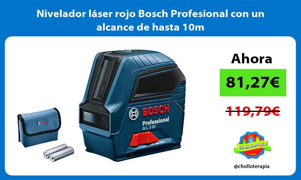 Nivelador láser rojo Bosch Profesional con un alcance de hasta 10m