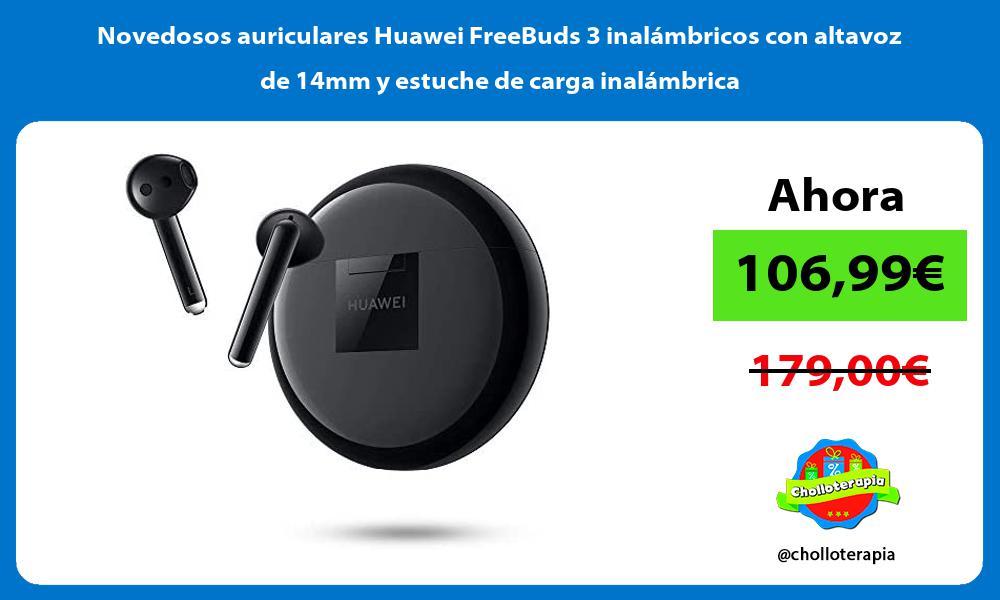 Novedosos auriculares Huawei FreeBuds 3 inalámbricos con altavoz de 14mm y estuche de carga inalámbrica