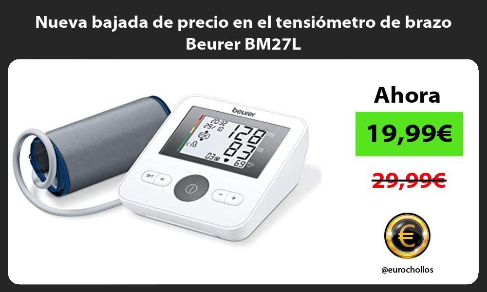 Nueva bajada de precio en el tensiómetro de brazo Beurer BM27L