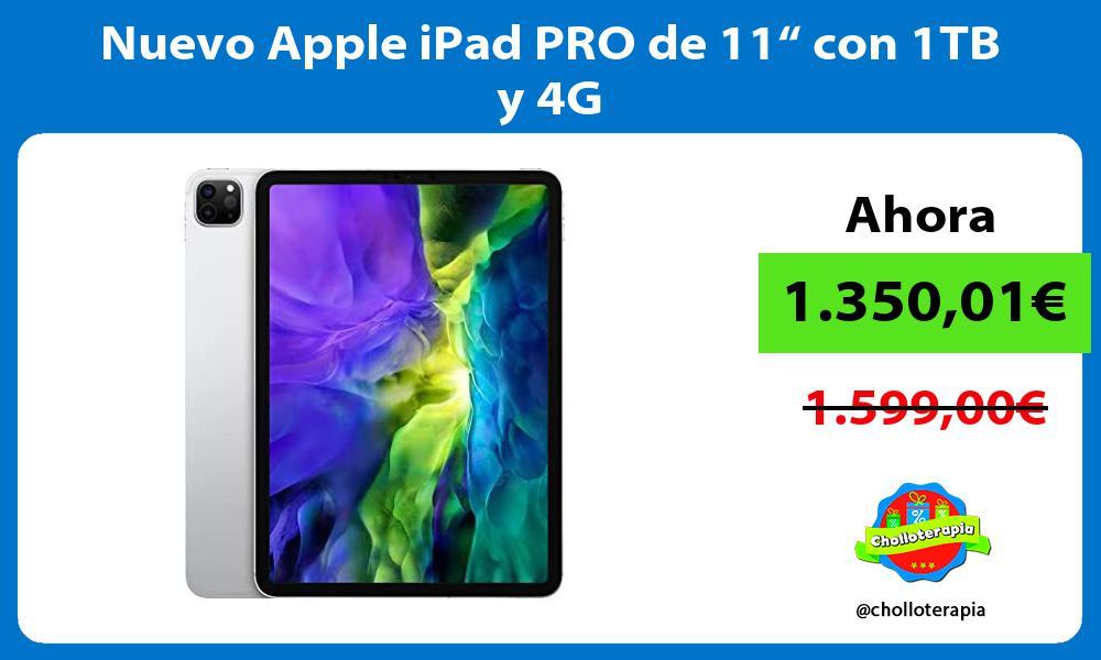 """Nuevo Apple iPad PRO de 11"""" con 1TB y 4G"""
