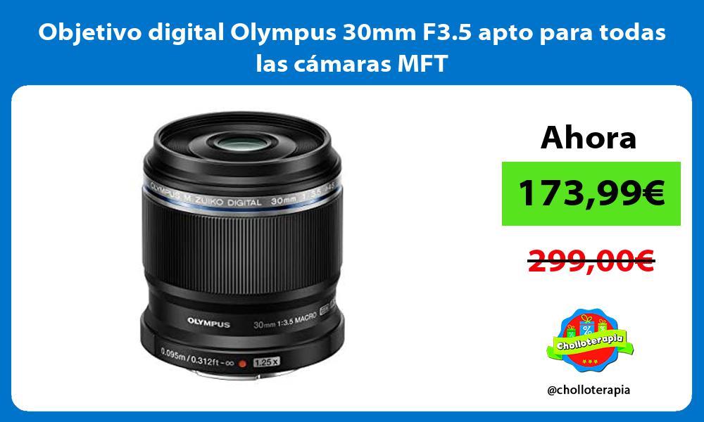 Objetivo digital Olympus 30mm F3 5 apto para todas las cámaras MFT