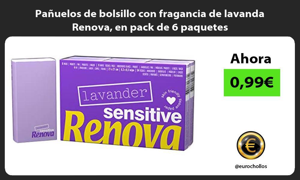 Pañuelos de bolsillo con fragancia de lavanda Renova en pack de 6 paquetes