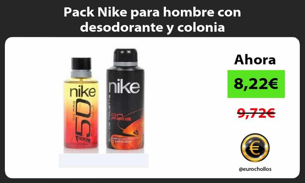 Pack Nike para hombre con desodorante y colonia