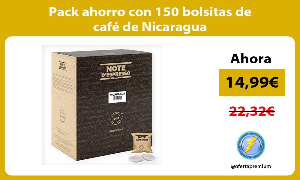 Pack ahorro con 150 bolsitas de café de Nicaragua