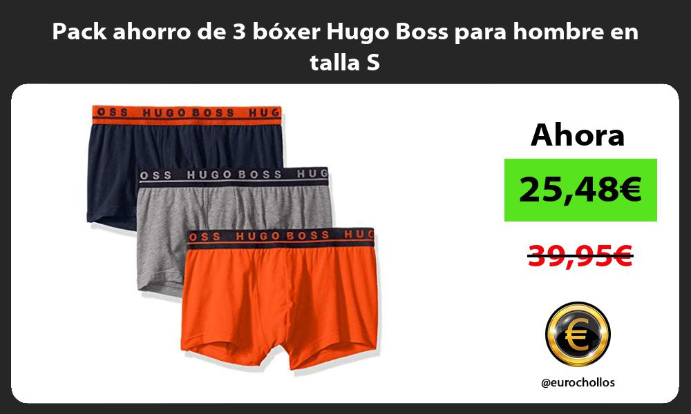 Pack ahorro de 3 bóxer Hugo Boss para hombre en talla S