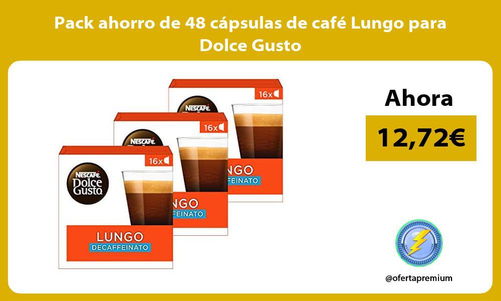 Pack ahorro de 48 cápsulas de café Lungo para Dolce Gusto