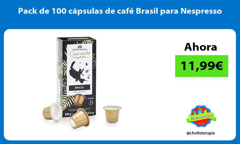 Pack de 100 cápsulas de café Brasil para Nespresso