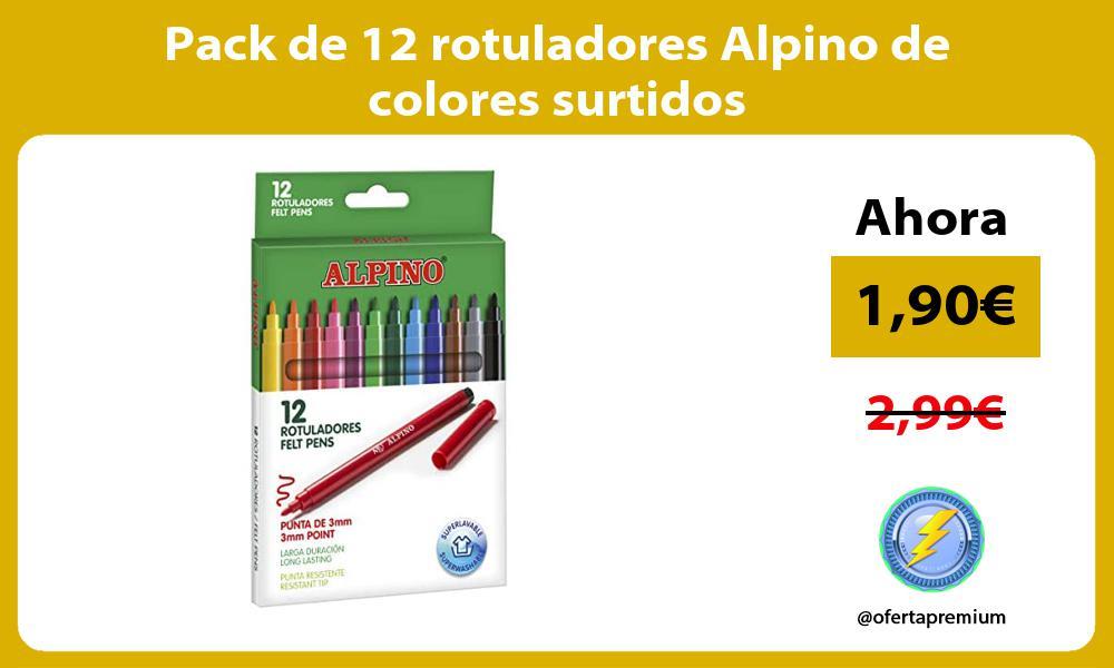 Pack de 12 rotuladores Alpino de colores surtidos