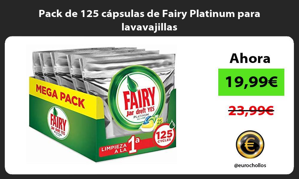 Pack de 125 cápsulas de Fairy Platinum para lavavajillas