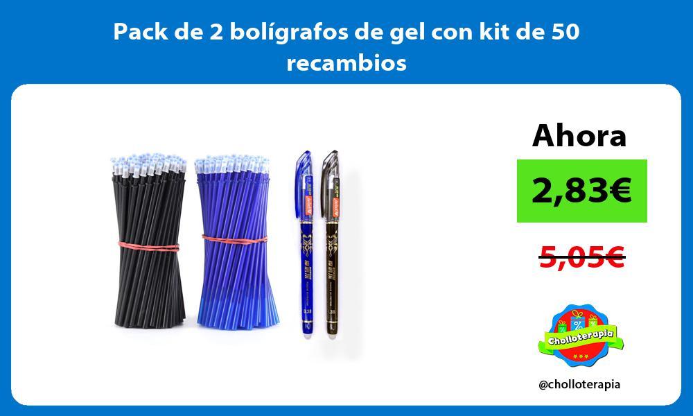 Pack de 2 bolígrafos de gel con kit de 50 recambios