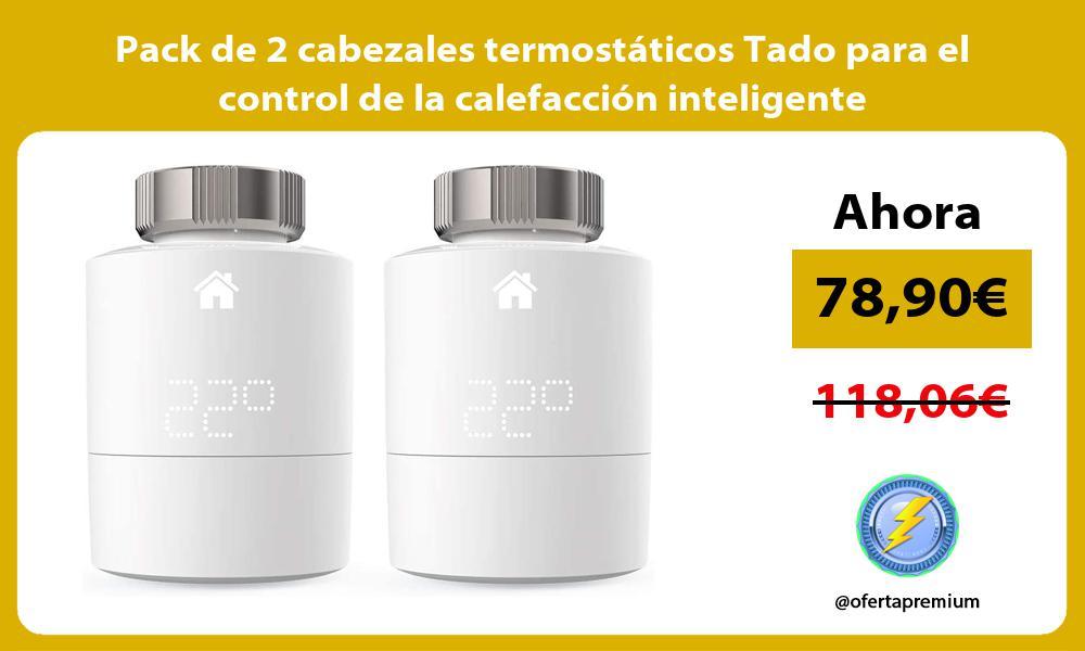 Pack de 2 cabezales termostáticos Tado para el control de la calefacción inteligente