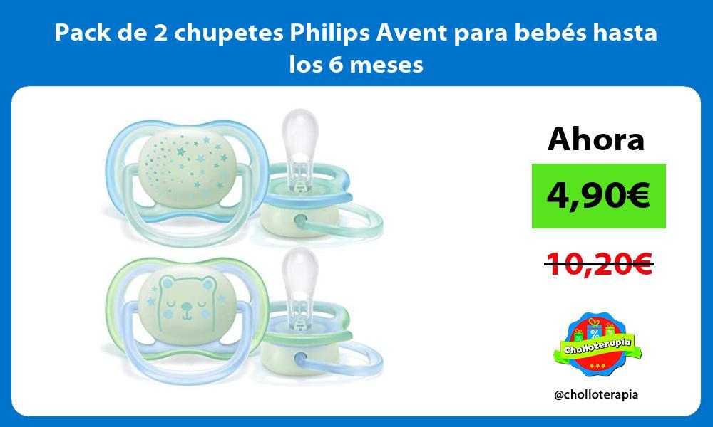 Pack de 2 chupetes Philips Avent para bebés hasta los 6 meses