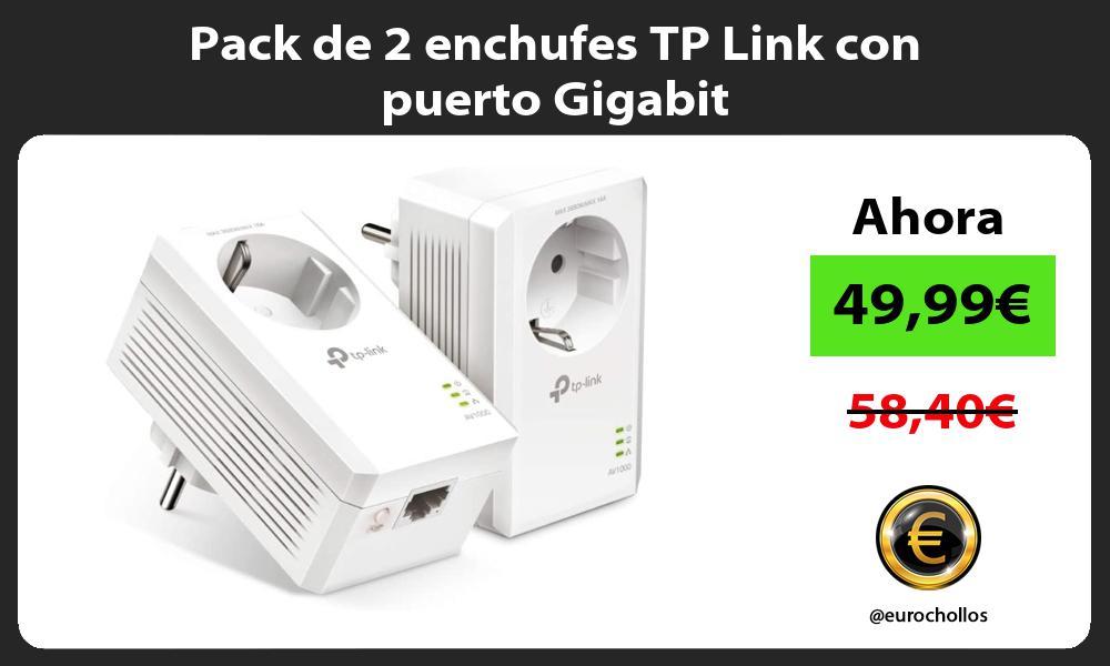 Pack de 2 enchufes TP Link con puerto Gigabit