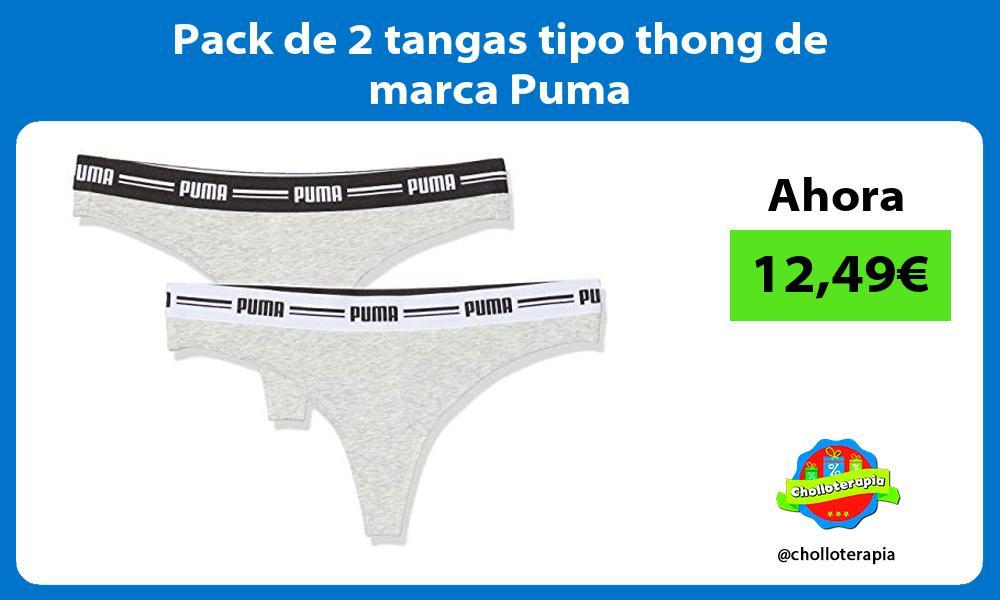 Pack de 2 tangas tipo thong de marca Puma