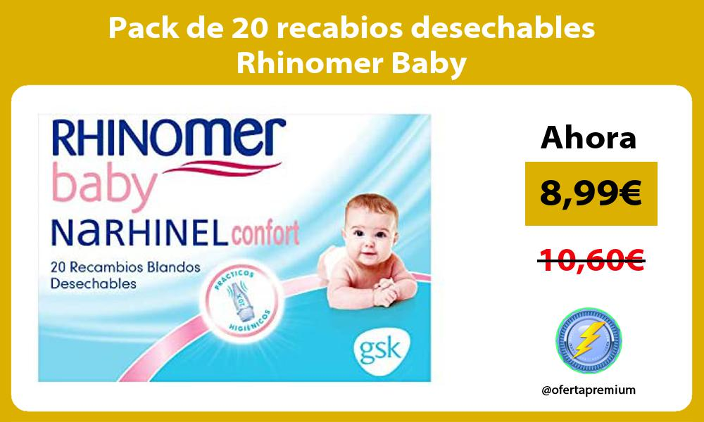 Pack de 20 recabios desechables Rhinomer Baby