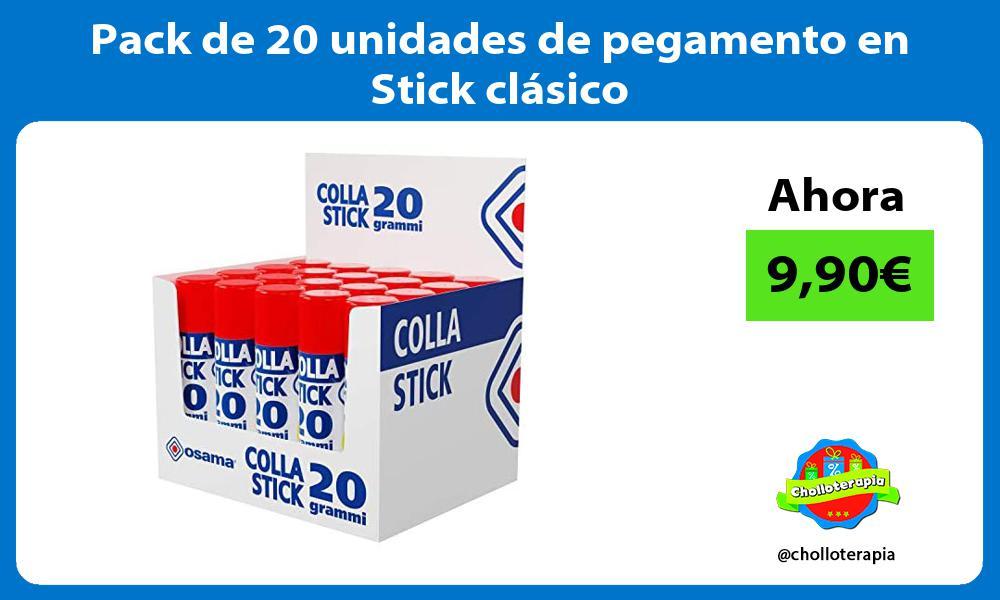 Pack de 20 unidades de pegamento en Stick clásico