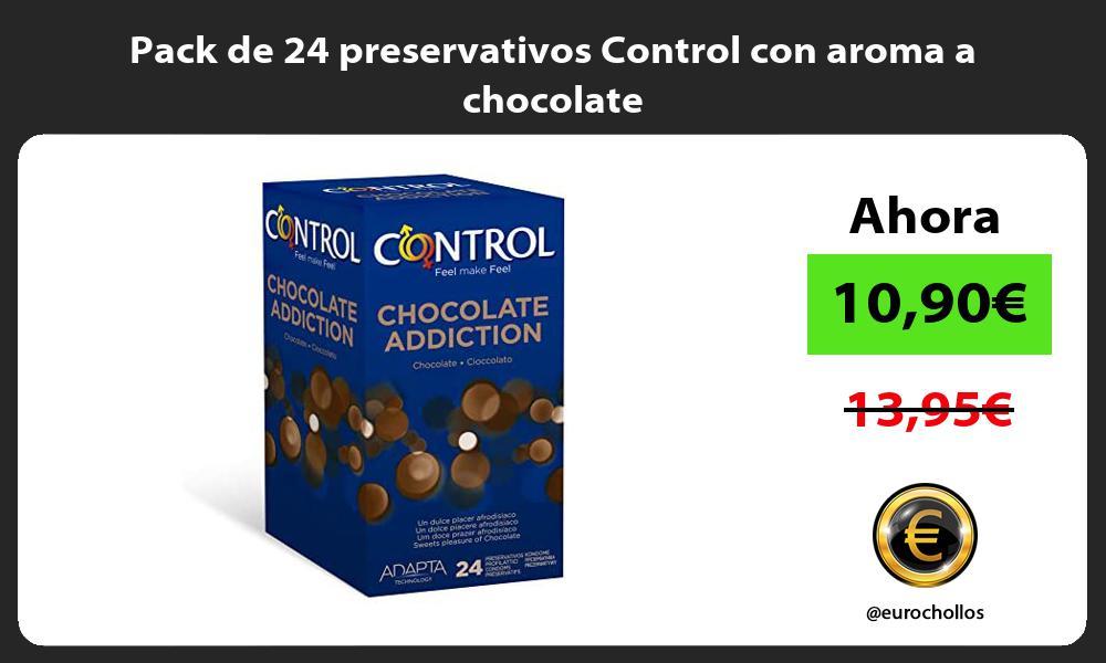 Pack de 24 preservativos Control con aroma a chocolate