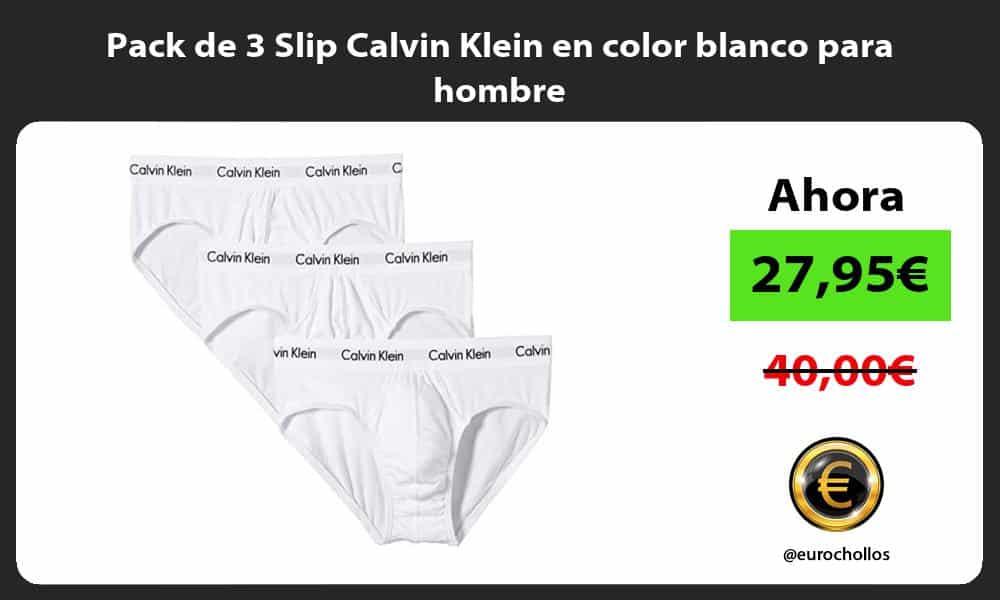 Pack de 3 Slip Calvin Klein en color blanco para hombre