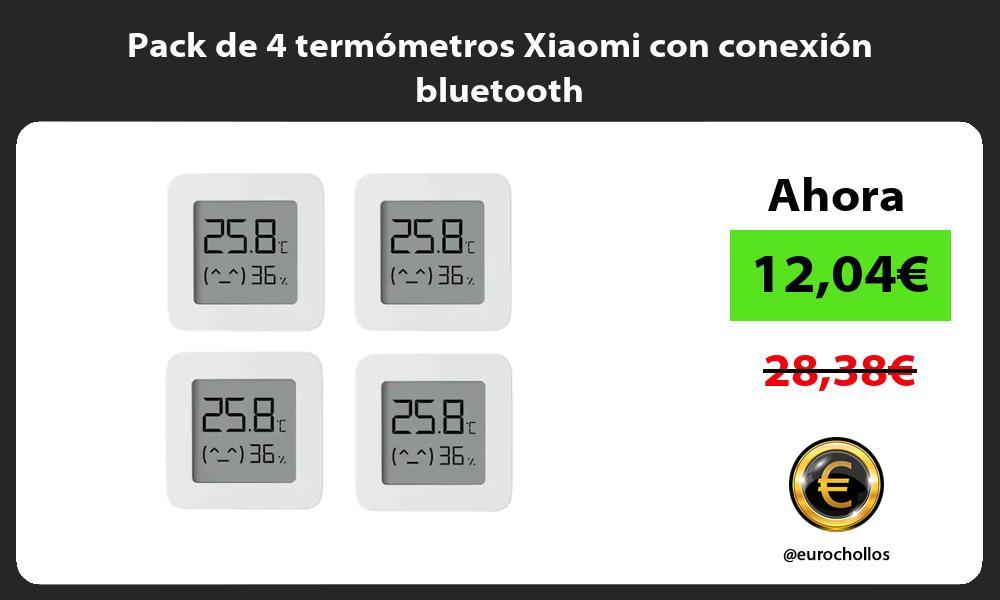 Pack de 4 termómetros Xiaomi con conexión bluetooth