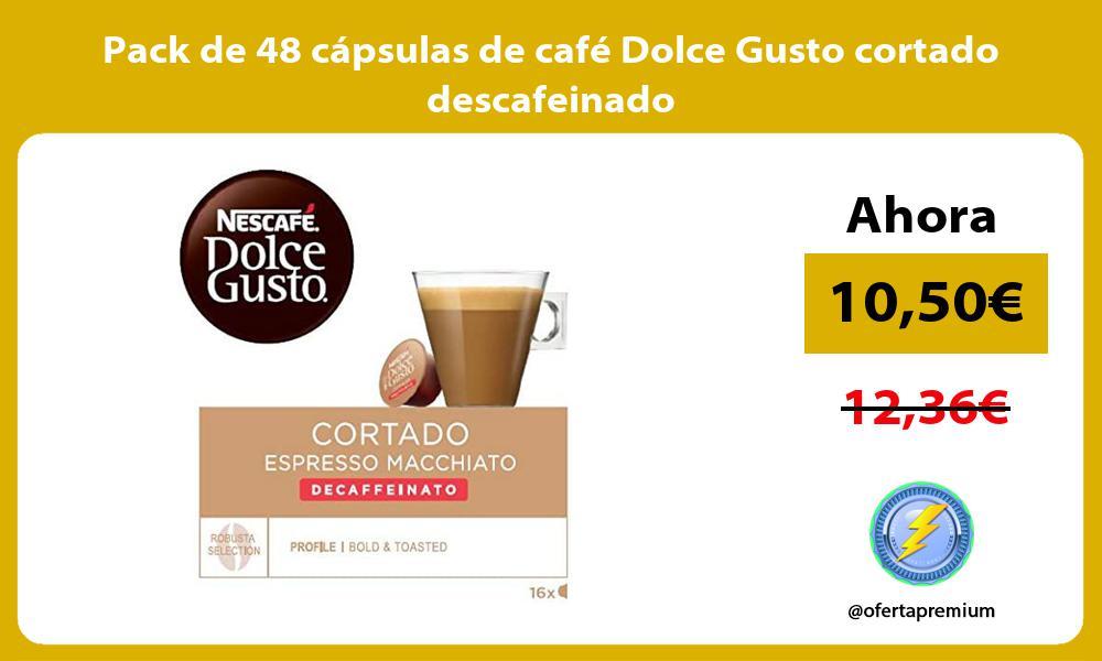 Pack de 48 cápsulas de café Dolce Gusto cortado descafeinado