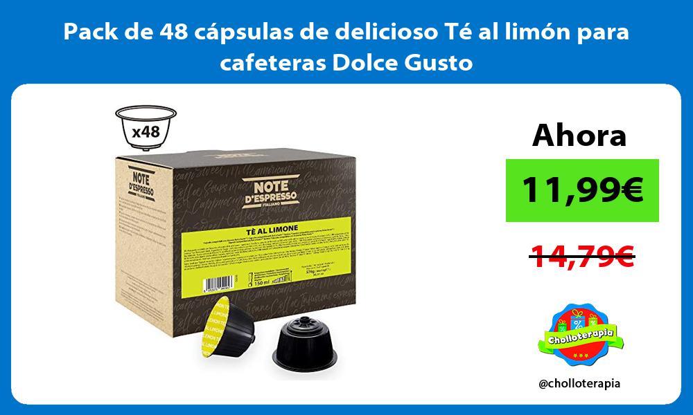 Pack de 48 cápsulas de delicioso Té al limón para cafeteras Dolce Gusto