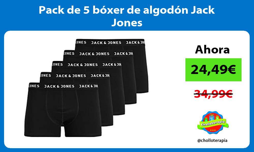 Pack de 5 bóxer de algodón Jack Jones