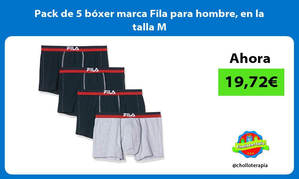 Pack de 5 bóxer marca Fila para hombre en la talla M