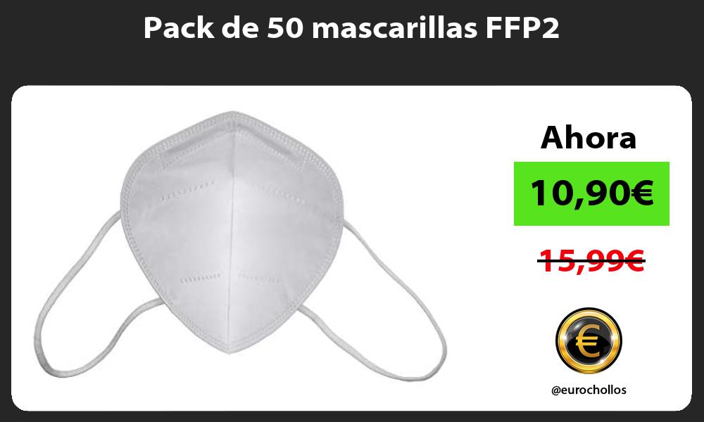 Pack de 50 mascarillas FFP2