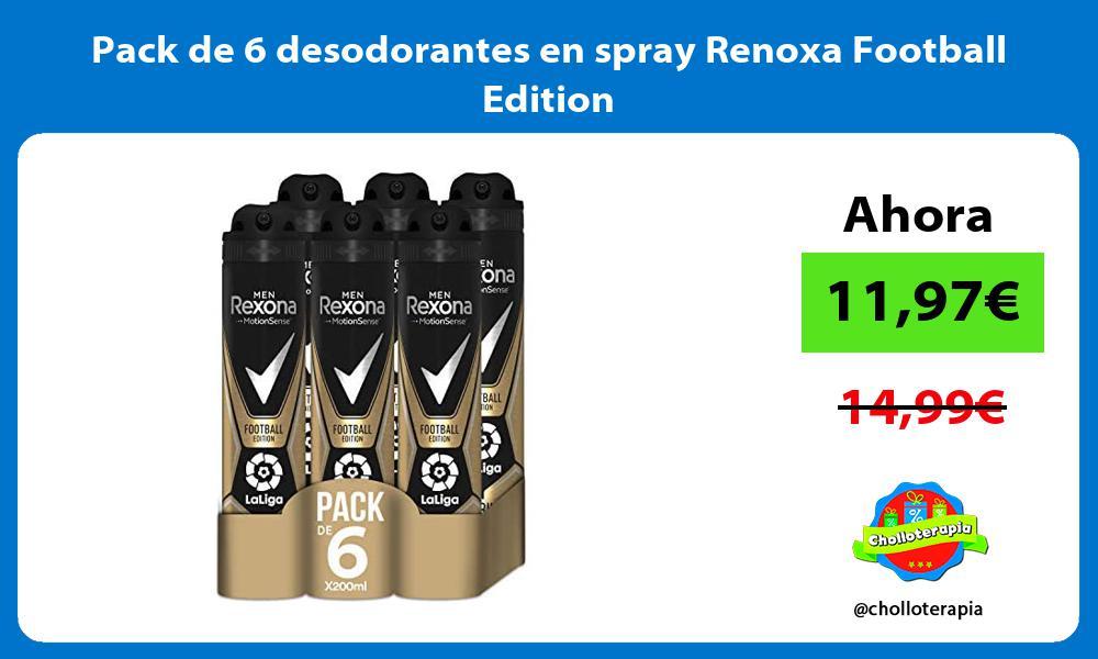 Pack de 6 desodorantes en spray Renoxa Football Edition