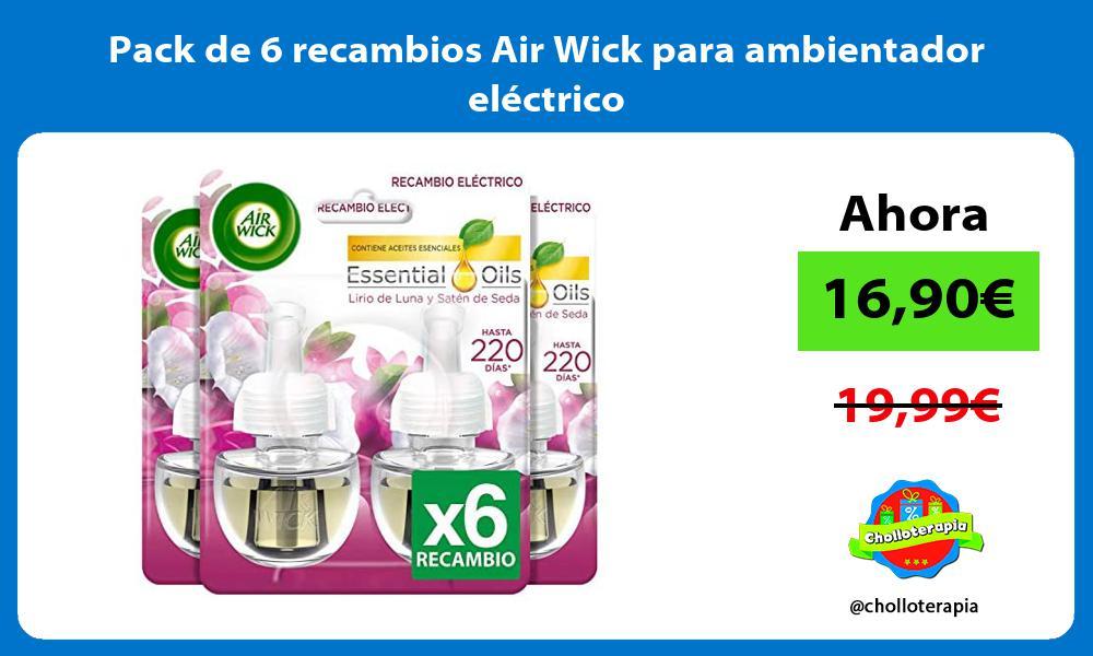 Pack de 6 recambios Air Wick para ambientador eléctrico