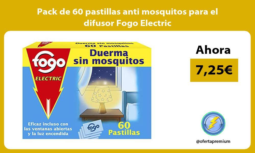 Pack de 60 pastillas anti mosquitos para el difusor Fogo Electric