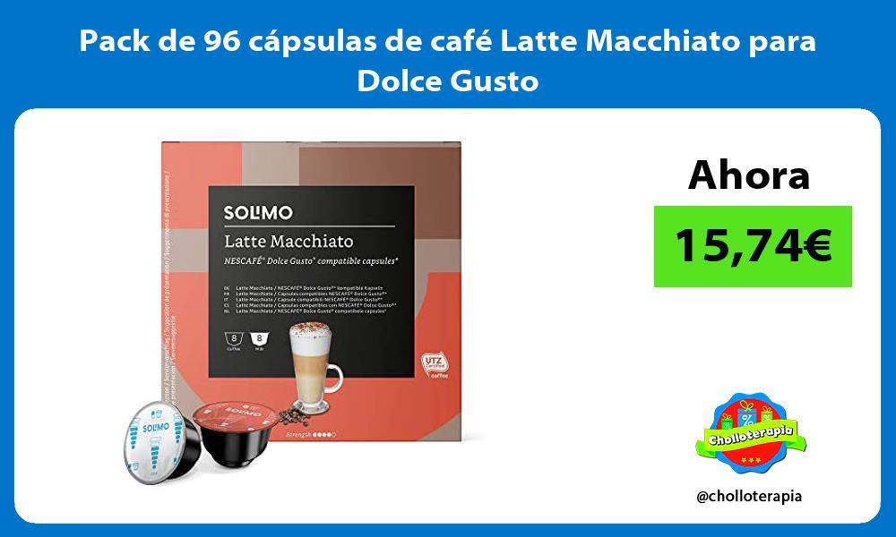 Pack de 96 cápsulas de café Latte Macchiato para Dolce Gusto