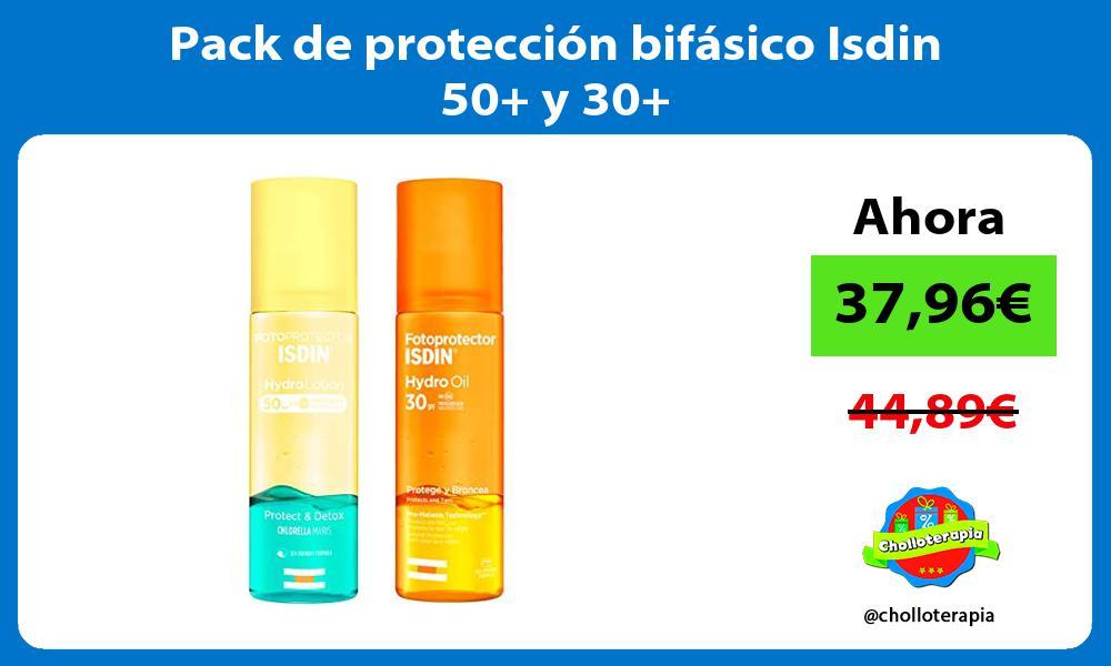 Pack de protección bifásico Isdin 50 y 30