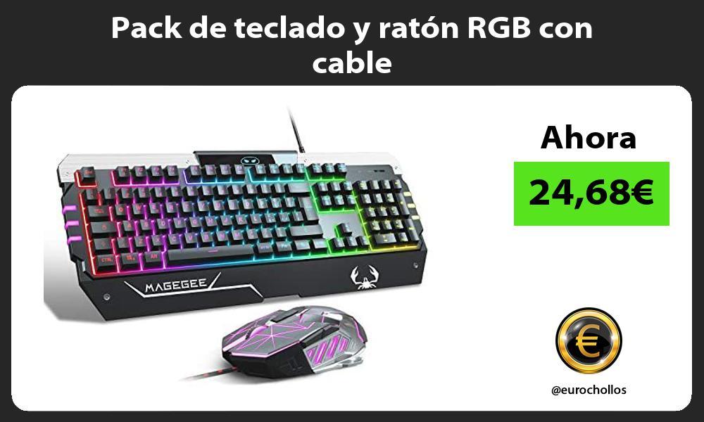 Pack de teclado y ratón RGB con cable