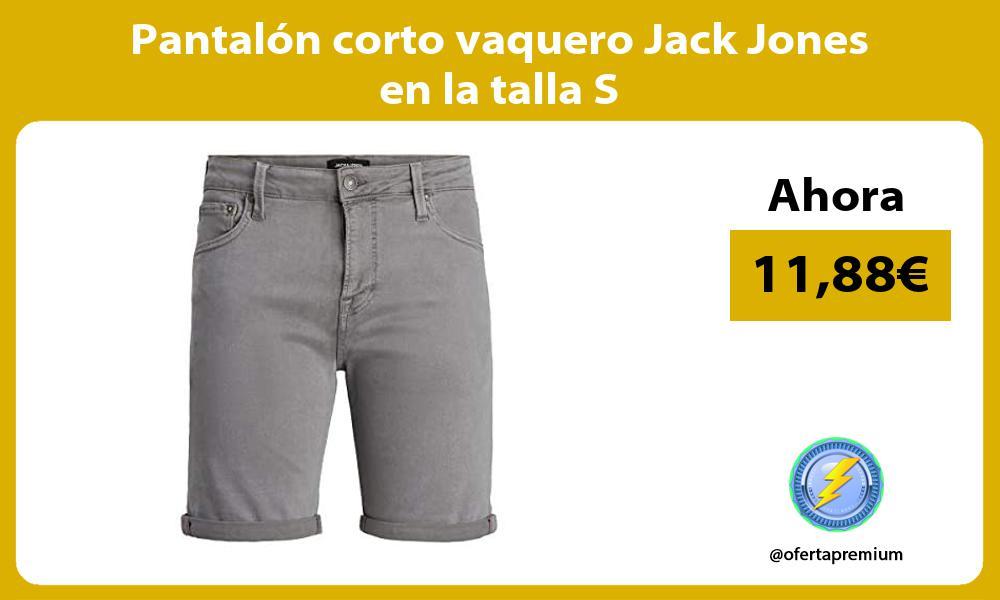 Pantalón corto vaquero Jack Jones en la talla S