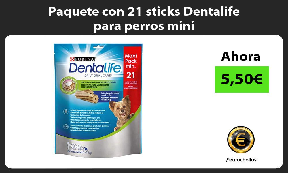 Paquete con 21 sticks Dentalife para perros mini